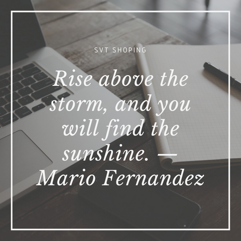 "Mario Fernandez Quotes ""Rise above the storm, and you will find the sunshine. """