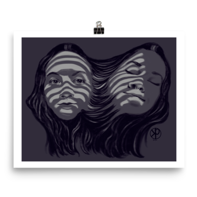 Dark Echo | Horror Portrait Art Print 8x10