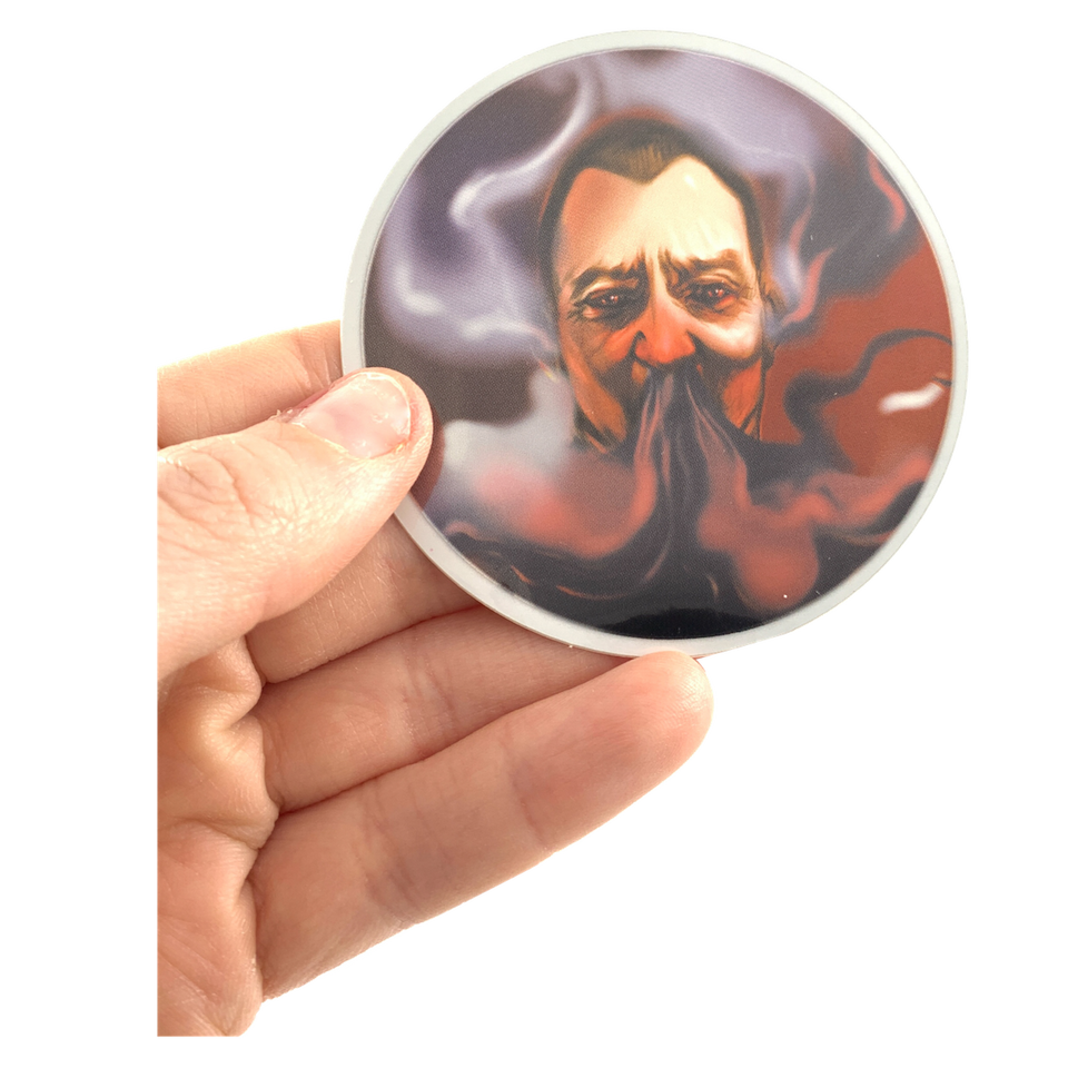 Smoked Man | Sticker with Mirror Effect from Hell