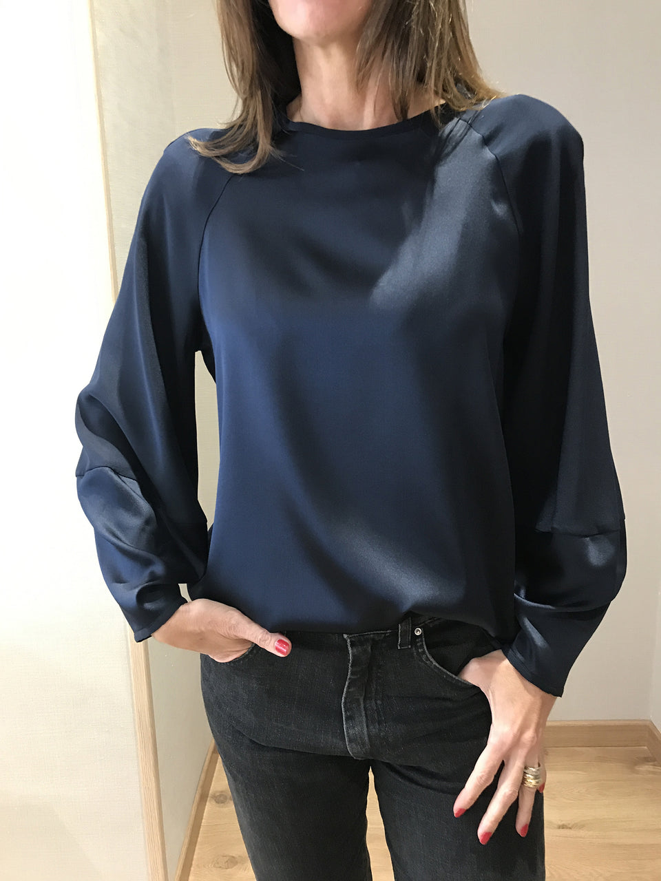 Parioli Blouse Blu navy