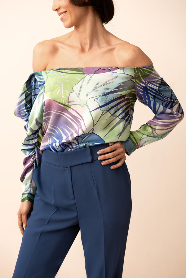 IPANEMA PALM BLOUSE