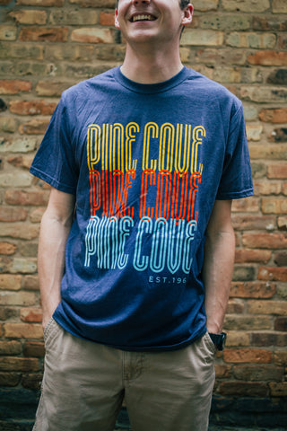 Navy PC Stack Tee
