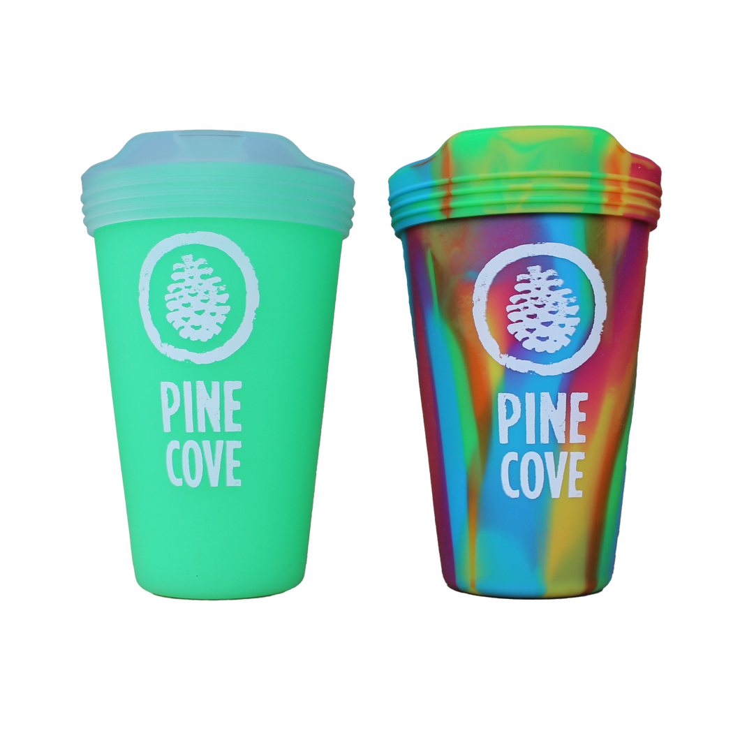Drinkware Tie Dye Silipint and Glow in the dark PC Tumbler