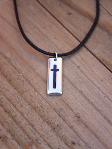Rectangle Cross Necklace