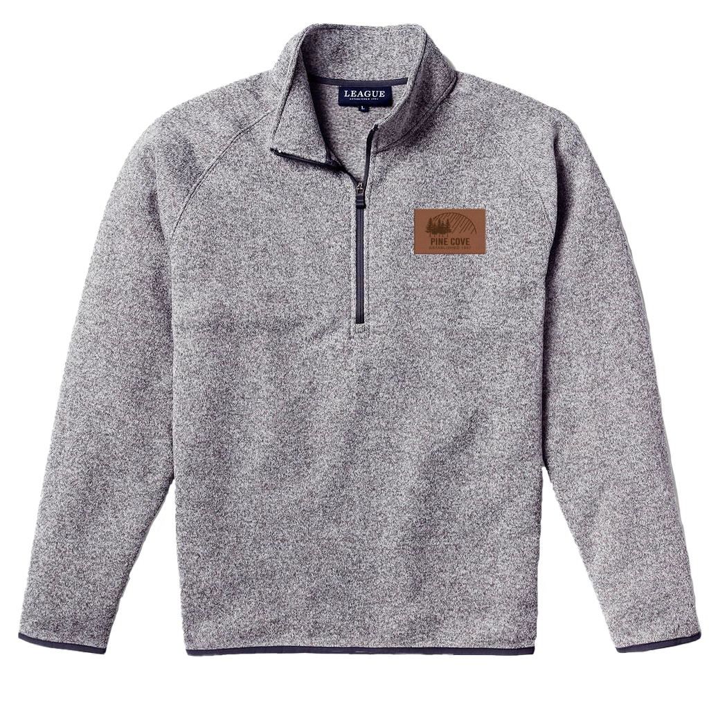 Gray Quarter Zip Pullover