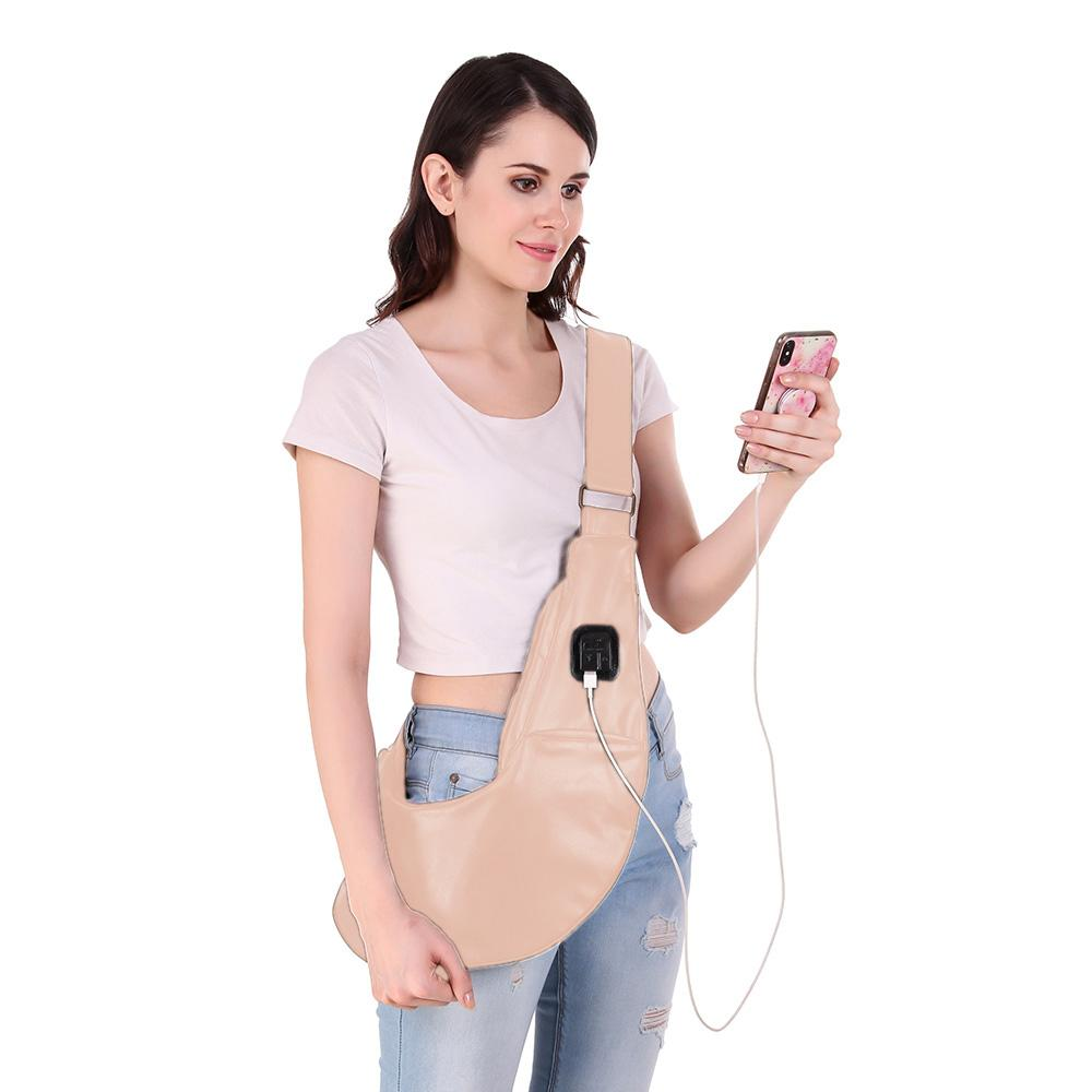 Sling bag with USB & AUX ports - Deal Especial