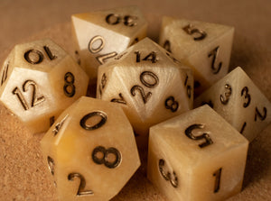 Honey butter dice set w/metallic espresso ink