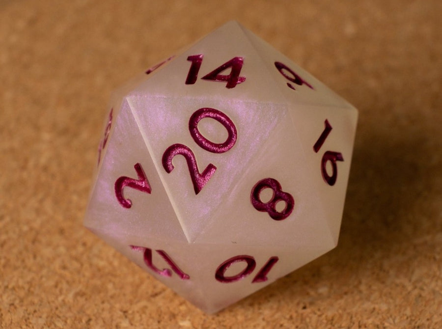 Rose pearl D20 w/metallic dark rose ink