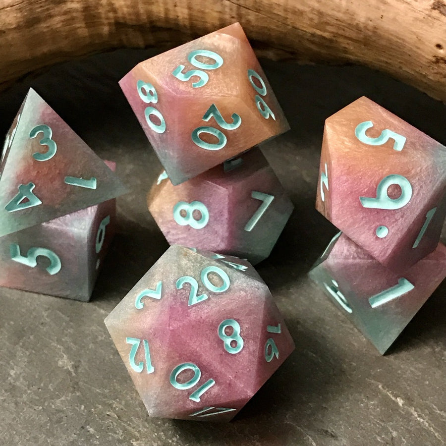 Rainbow Sherbet dice set