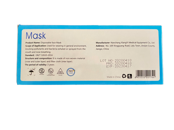 Ear Loop Face Mask (Case-Qty. 2000)