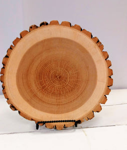 Wood Slice Charger Plate