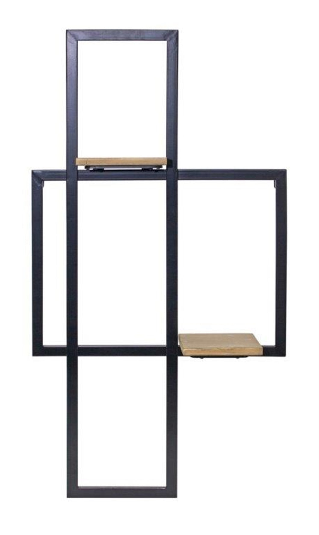Abstract Iron & Wood Shelf
