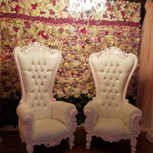 White Leather Thrones