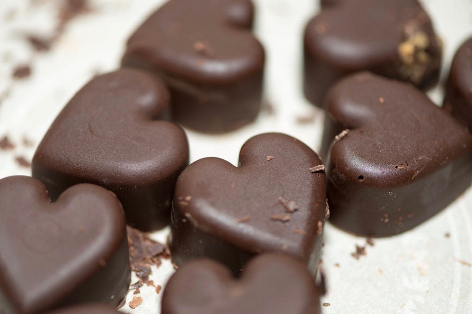 Be Loving - Peanut Butter and Chocolate Hearts
