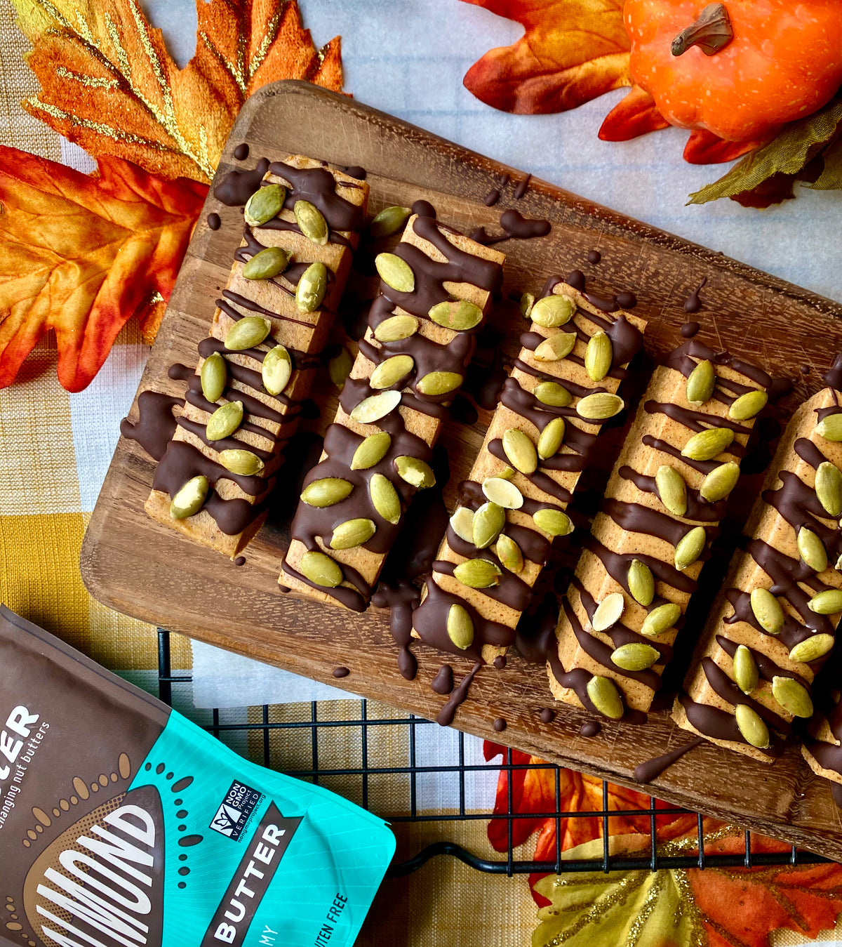 Pumpkin Protein Bars with Yumbutter