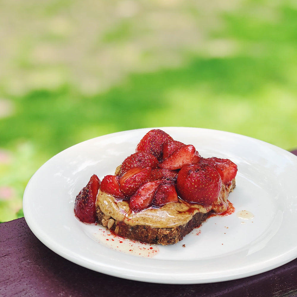 Buttery Strawberry & Almond Toast