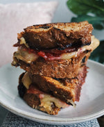 Cashew Butter, Raspberry Jam, & Turkey Bacon Grilled Cheese