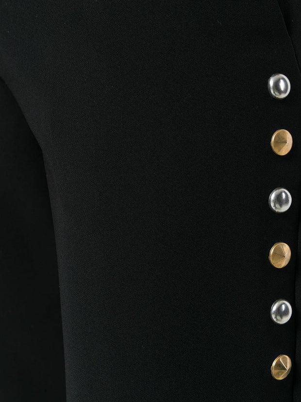 MOSCHINO stud embellished trousers