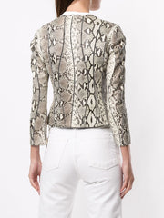 ROBERTO CAVALLI Snakeskin-effect Fitted Jacket