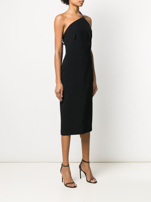 Tom Ford Chain-Strap One-Shoulder Dress