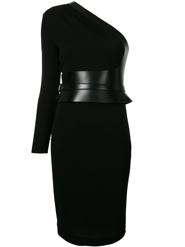TOM FORD One shoulder belted dress