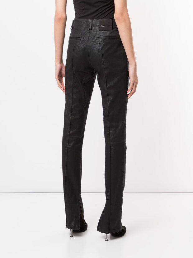 TOM FORD coated biker trousers