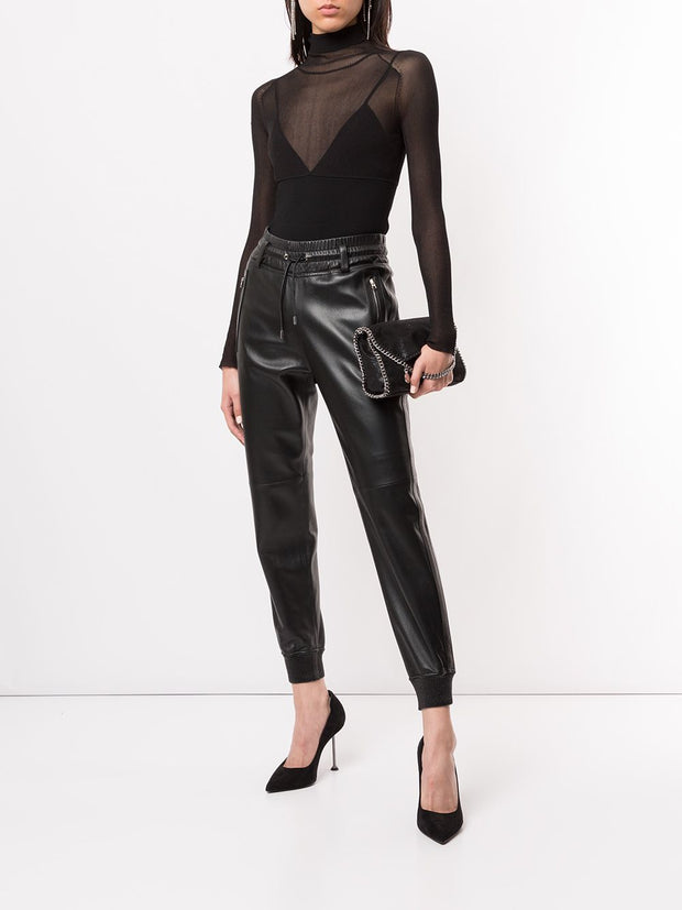 TOM FORD lambskin leather track pants