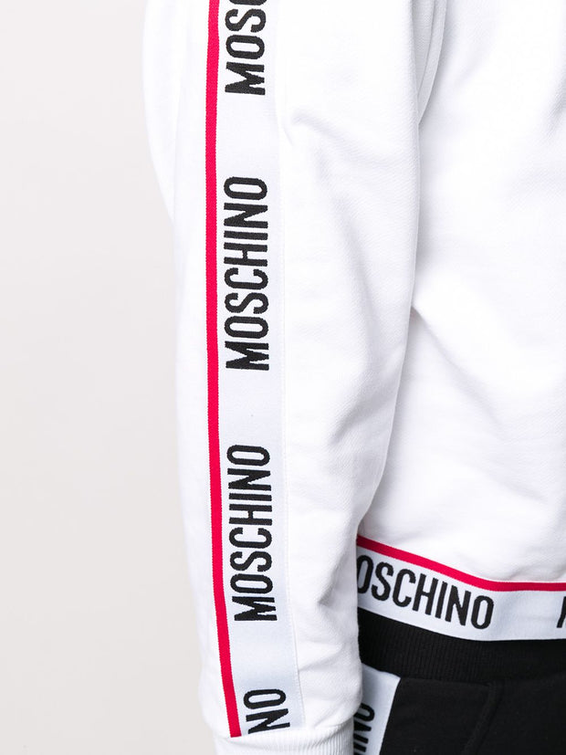 Moschino branded stripe sweatshirt