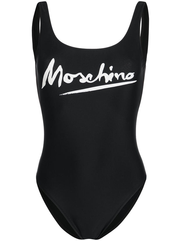 Moschino Logo Printed Swimsuit