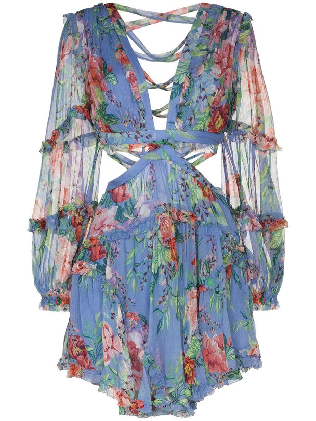 ZIMMERMANN Bellitude cutout floral-print dress
