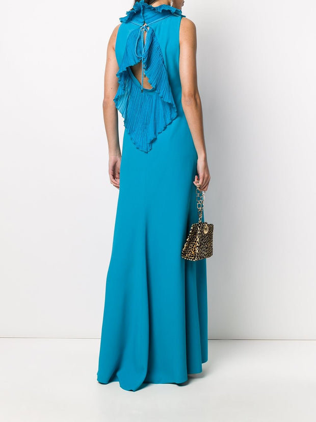 ALBERTA FERRETTI Ruffle Trim Long Gown