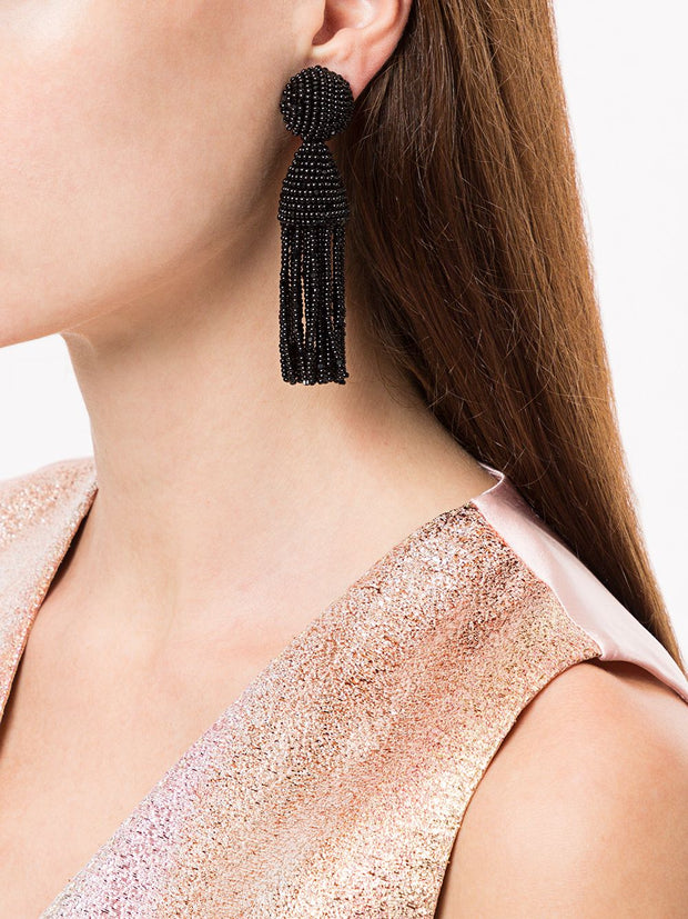 Oscar De La Renta Tassel Earrings