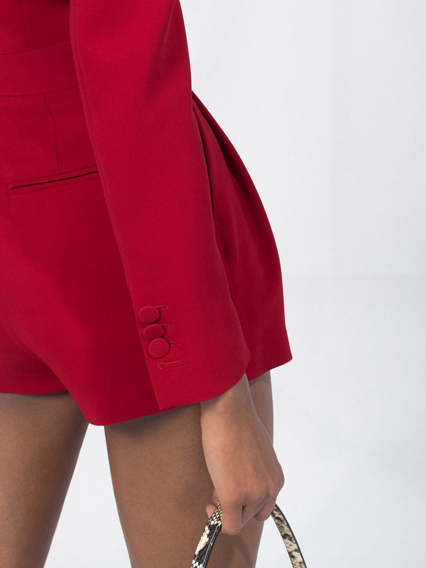 Dsquared2 long-sleeved pleat-detail playsuit