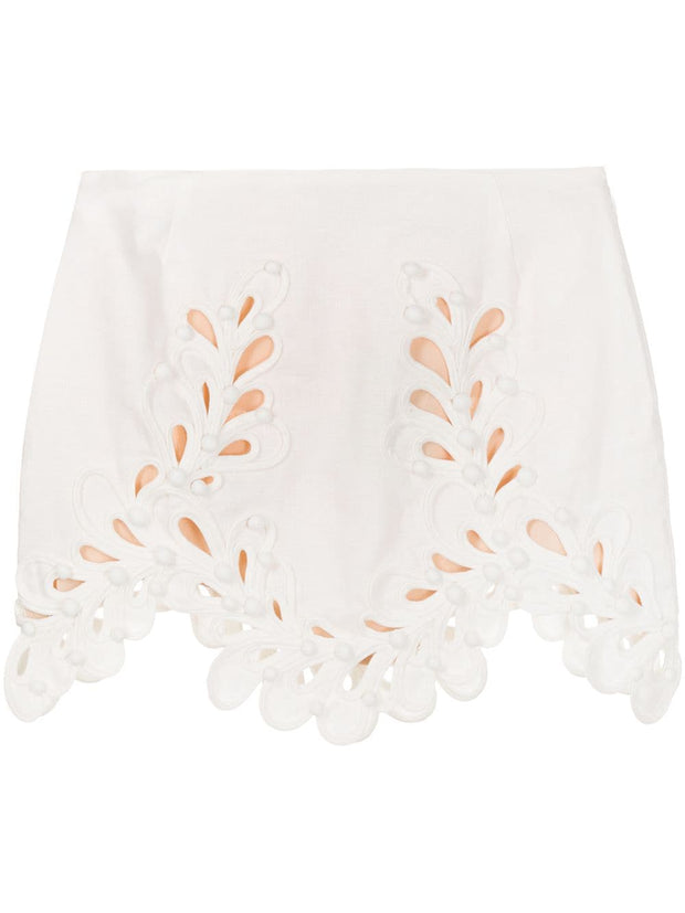 ZIMMERMANN embroidered short skirt