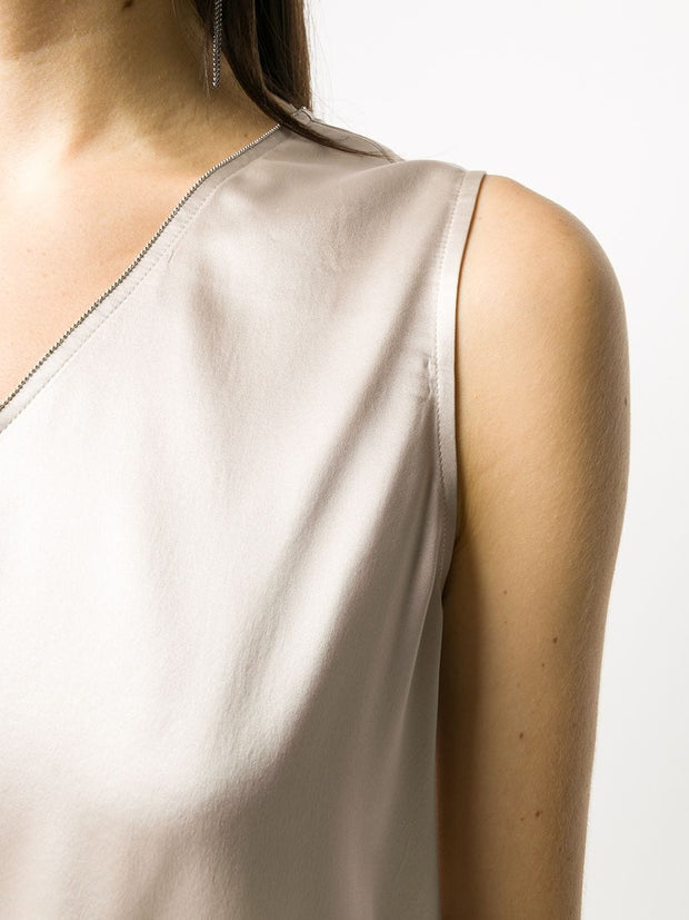 Fabiana Filippi metallic effect sleeveless top