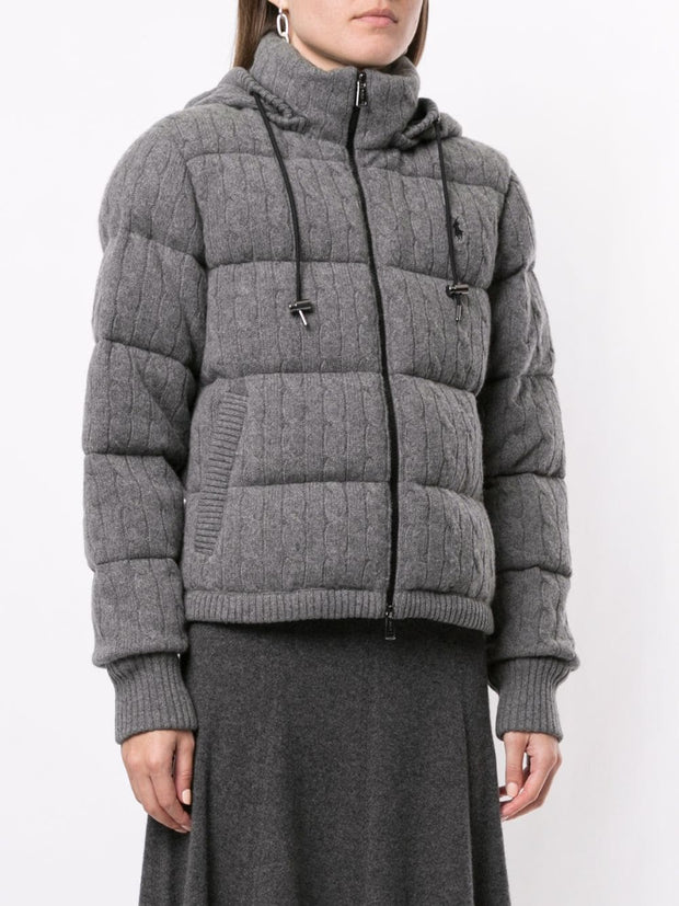 Polo Ralph Lauren padded cable knit jacket