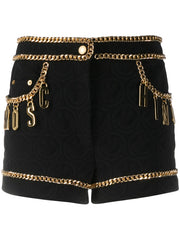 Moschino chain-trimmed quilted shorts