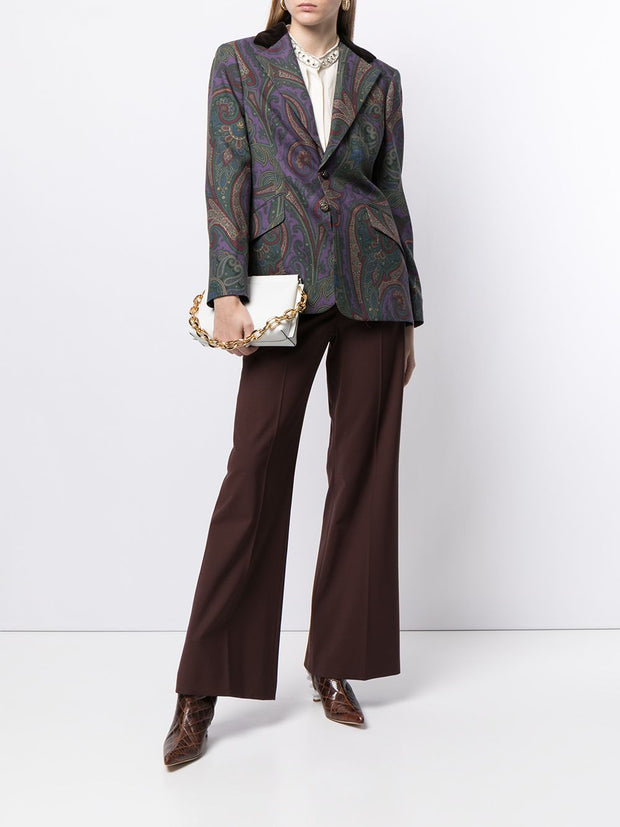 Ralph Lauren Collection single breasted paisley-print blazer