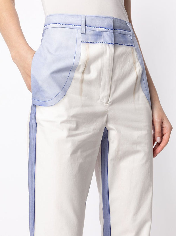 Moschino high-rise panelled jeans