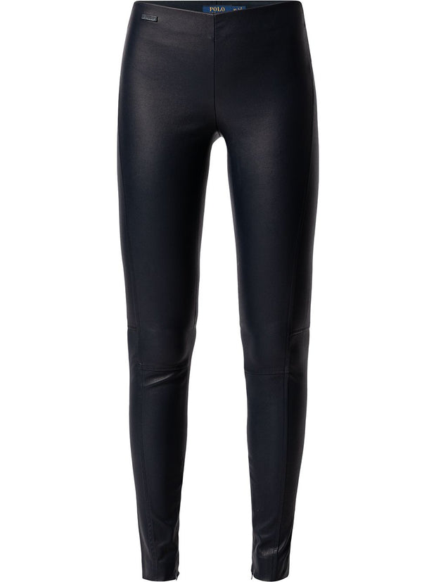 Polo Ralph Lauren panelled skinny leather trousers