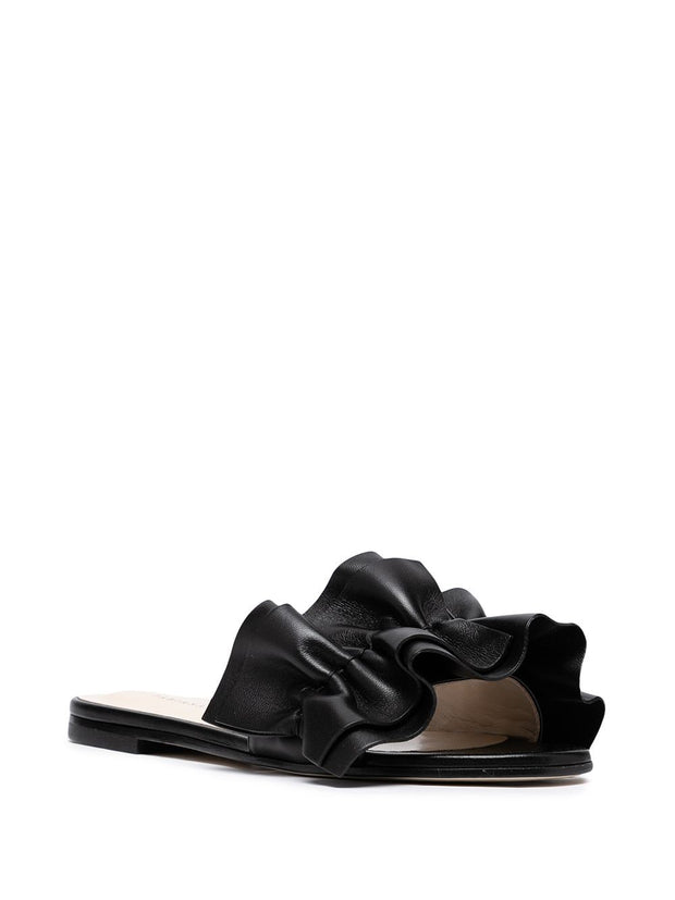 Fabiana Filippi ruffled leather sandals