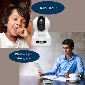 D3D Artificial Intelligent WiFi Home Security Camera with Face Detection & Alexa