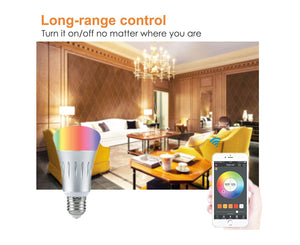 wifi bulb camera with color change via mobile app