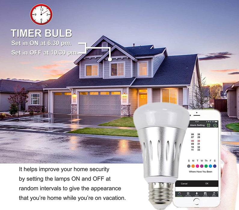 D3D GSM home security alarm system with Smart Bulb