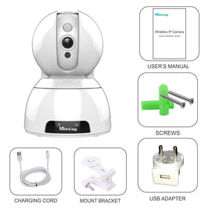 wireless home security cctv camera box and accessories