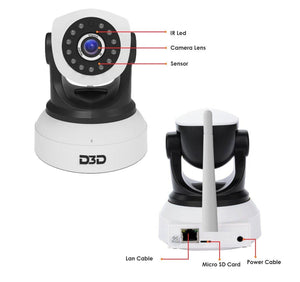 D3D Re-Furbished 2MP WiFi Home Security CCTV Camera Support SD Card & Mobile View