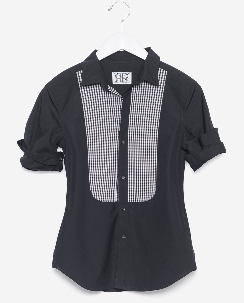Tailored - Black with Gingham Bib