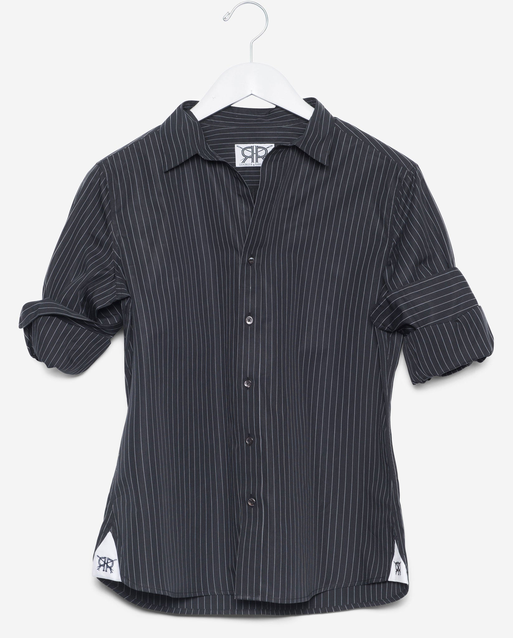 0d3bcf60bc4 Tailored - Black with White Pinstripe