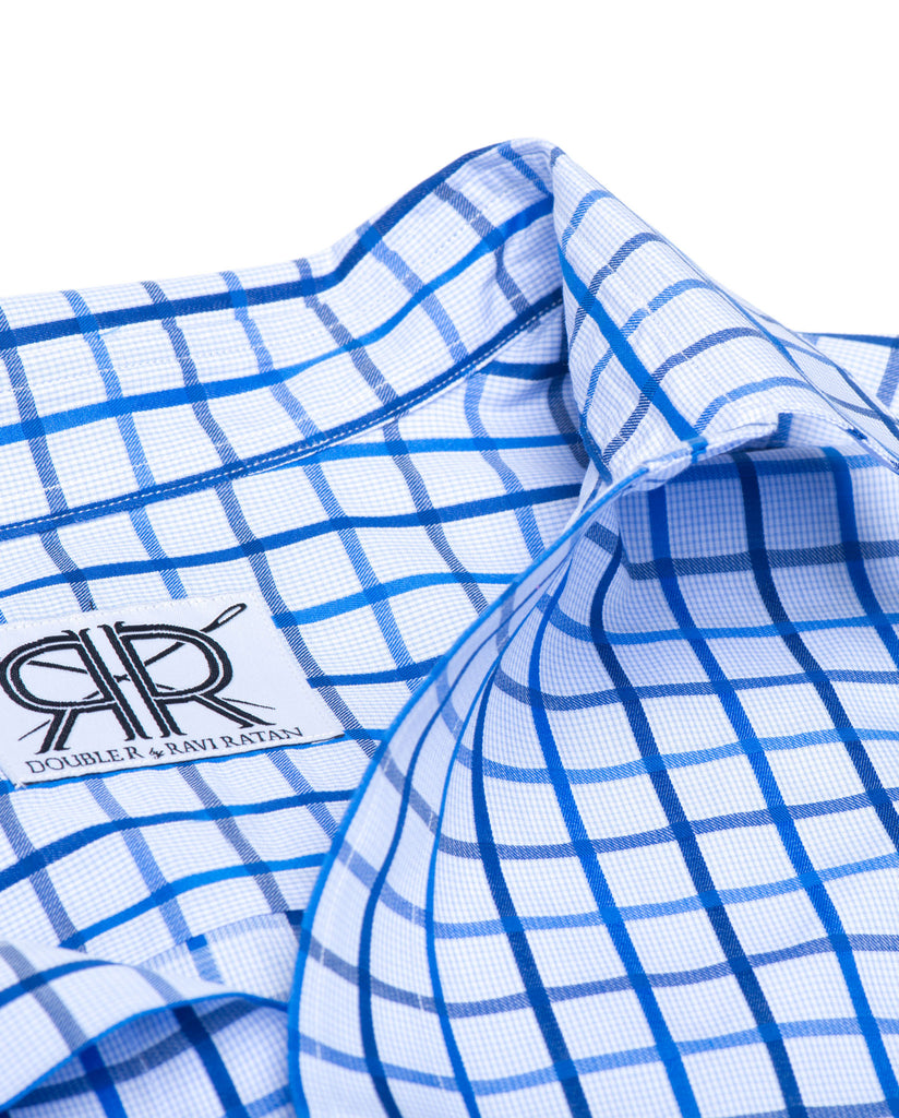 Tailored - Multi Blue Windowpane Check