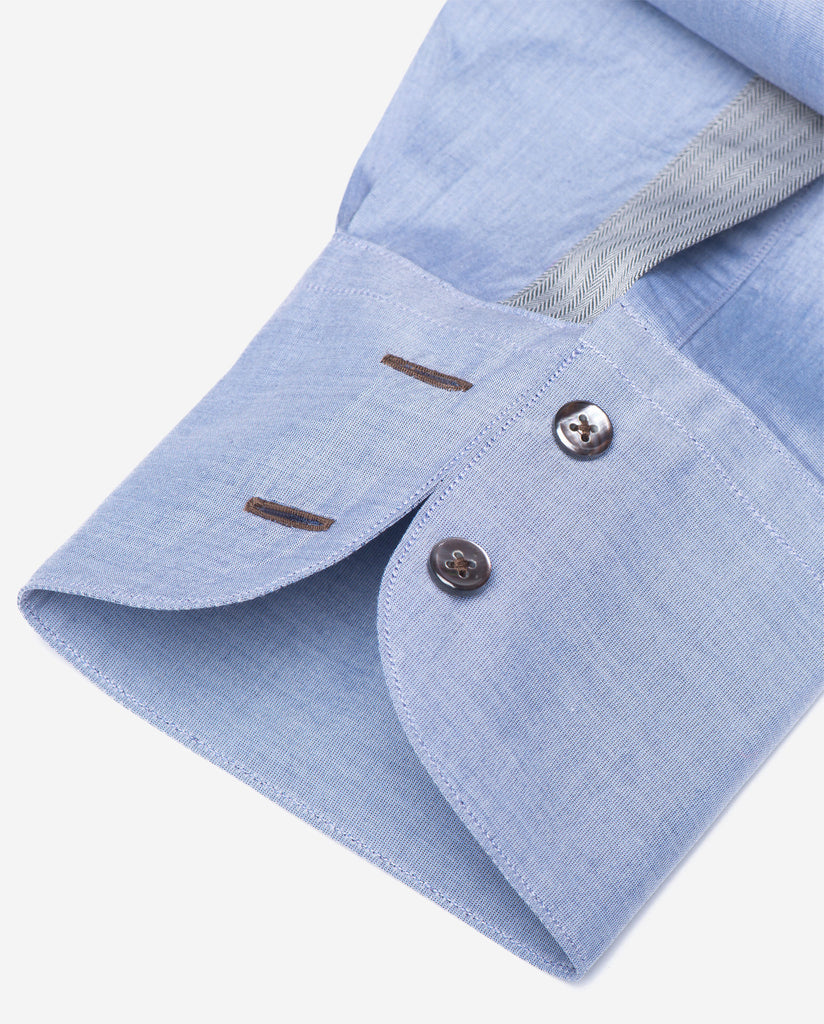 Tailored - Chambray with Herringbone Detail